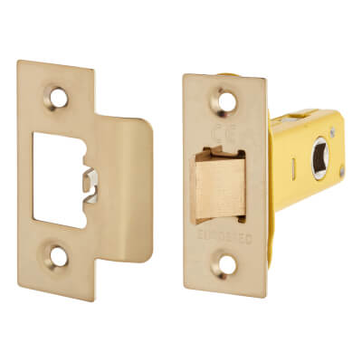 Altro Heavy Duty Tubular Latch - 65mm Case - 44mm Backset - Electro Brass