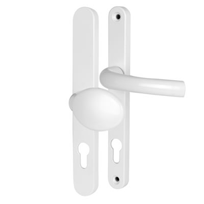 Hoppe Tokyo Multipoint Handle - uPVC/Timber - 92/62mm centres - 70mm door - Lever/Pad - White