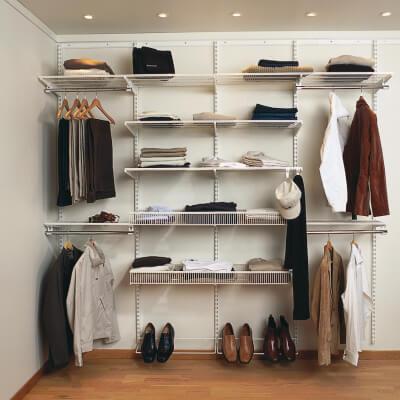 elfa® Wardrobe Kit 10 - Platinum