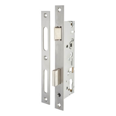 SAG Narrow Stile Sash Lock - 40mm Backset - Satin Stainless Steel