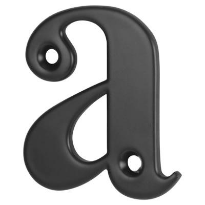 76mm Letter - A - Black