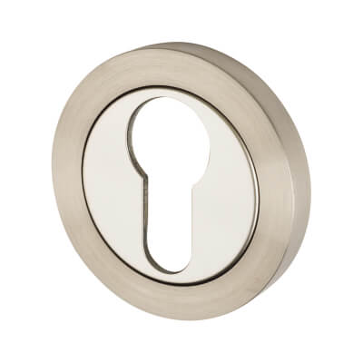 Steelworx Stainless Steel - Escutcheon - Euro - Polished/ Satin Stainless