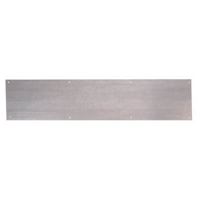 Kick Plate - 800 x 150 x 1.2mm - 8 Screw Holes - Galvanised Steel